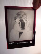 1981 Eddie Van Halen Band Original Press Kit Photo Original Set-up Negative 5x7
