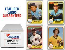 1981 Fleer Baseball Complete Set of 660 Cards