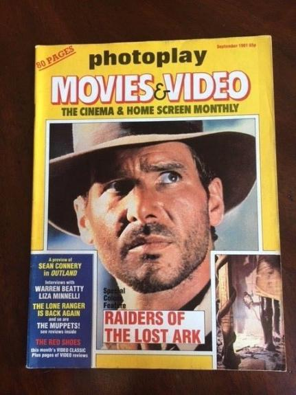 "1981 Harrison Ford, ""Raiders of the Lost Ark"",  ""Photoplay"" Magazine (No Label)"
