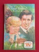 "1981, Princess Diana, (The Royal Wedding), ""TV MAGAZINE"" (Scarce)"