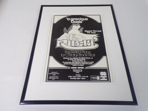1981 Rib-It Restaurant Atlantic City Framed 11x14 ORIGINAL Vintage Advertisement