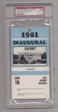 1981 Ronald Reagan Inaugural Escort All Event Access Pass PSA 21573269
