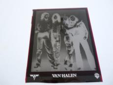 """1981 Van Halen Band Original Press Kit Photo Original Set-up Negative 8"""" x 10"""