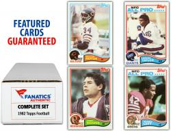 1982 Topps Football Complete Set of 528 Cards