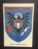 1983 /84 Grateful Dead Concert Program Jerry Garcia Missing Couple Pages