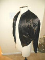 1983 AC/DC Flick Of The Switch US Crew Black Satin Tour Jacket Size Med.