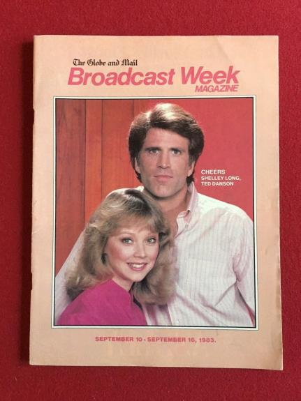 "1983, ""Cheers"" ""Broadcast Week"" Magazine (Scarce)"