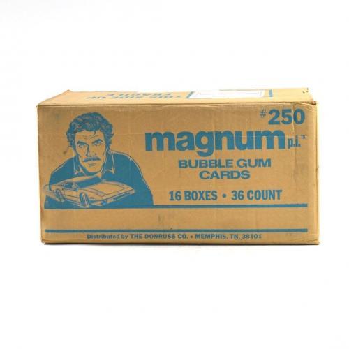 1983 Donruss Magnum P.I. TV Series Wax Box EMPTY Case #250 16/36 ct. 798