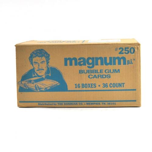 1983 Donruss Magnum P.I. TV Series Wax Box EMPTY Case #250 16/36 ct. 799