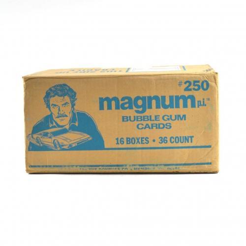 1983 Donruss Magnum P.I. TV Series Wax Box EMPTY Case #250 16/36 ct. 800