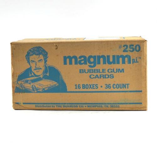 1983 Donruss Magnum P.I. TV Series Wax Box EMPTY Case #250 16/36 ct. 801