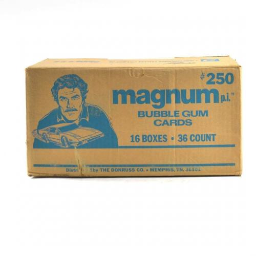 1983 Donruss Magnum P.I. TV Series Wax Box EMPTY Case #250 16/36 ct. 802