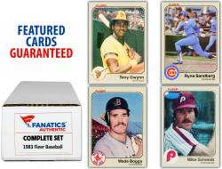 1983 Fleer Baseball Complete Set of 660 Cards - Mounted Memories
