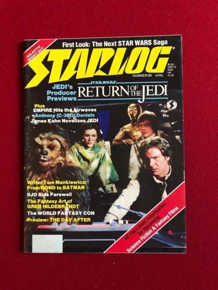 "1983, Star Wars, ""STARLOG"" Magazine (RETURN OF THE JEDI) Scarce"