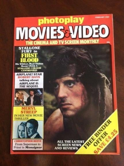 "1983 Sylvester Stallone, ""First Blood"",  ""Photoplay"" Movies Magazine (No Label)"