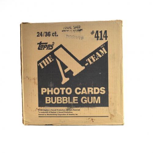 1983 Topps A-Team TV Series Wax Box EMPTY Case #414 24/36 ct. 774