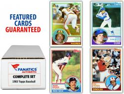 1983 Topps Baseball Complete Set of 792 Cards - Mounted Memories