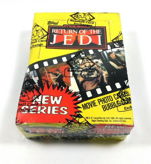 1983 Topps Star Wars Return of the Jedi Series 2 Wax Box (36 Packs) BBCE Wrapped