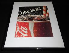 1984 Coca Cola Coke Is It Framed 11x14 ORIGINAL Vintage Advertisement