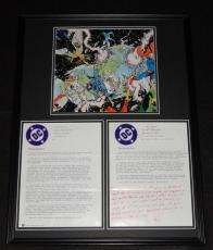 1984 DC Crisis on Infinite Earths Framed 18x24 Poster & RP Memorandum Set