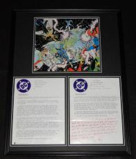 1984 DC Crisis on Infinite Earths Framed 18x24 Poster & RP Memorandum Set