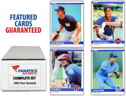 1984 Fleer Baseball Complete Set of 660 Cards - Mounted Memories
