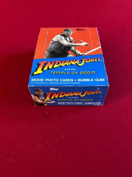 "1984, INDIANA JONES, (Harrison Ford), ""Topps"" Display Box (Scarce)"