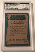 1984 Masters Of The Universe Alan Oppenheimer Signed Auto Card PSA/DNA COA #53