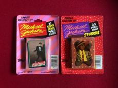 "1984, Michael Jackson, ""Un-Opened"" Card (33)  & Stickers (33) Sets (Scarce)"