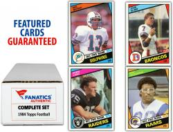 1984 Topps Football Complete Set of 396 Cards