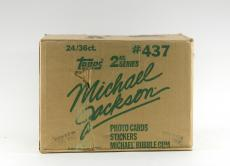 1984 Topps Michael Jackson 2nd Series EMPTY Wax Box Case #437 24/36 ct.