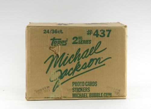1984 Topps Michael Jackson 2nd Series EMPTY Wax Box Case #437 24/36 ct.