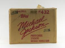 1984 Topps Michael Jackson EMPTY Wax Box Case #432 24/36 ct.