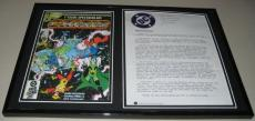 1985 DC Crisis on Infinite Earths Framed Memorandum Print & Photo Set