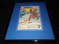 1985 DC Heroes Role Playing Game 11x14 Framed ORIGINAL Advertisement Batman