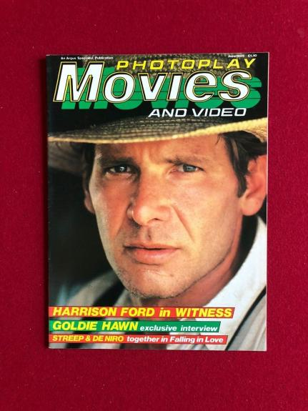 "1985, Harrison Ford, ""Photoplay"" Magazine (No Label) Scarce"