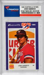 1985 Huntsville Stars Set with Jose Canseco Minor League Card