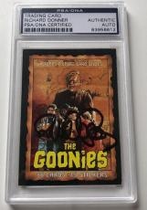 1985 Topps The Goonies Richard Donner Director #1 Signed Auto Card PSA/DNA