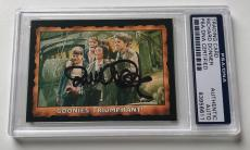 1985 Topps The Goonies Richard Donner Director #67 Signed Auto Card PSA/DNA