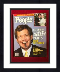 "1986, David Letterman, ""People"" Magazine  (No Label)  Scarce / Vintage"
