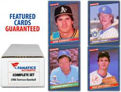 1986 Donruss Baseball Complete Set of 660 Cards - Mounted Memories