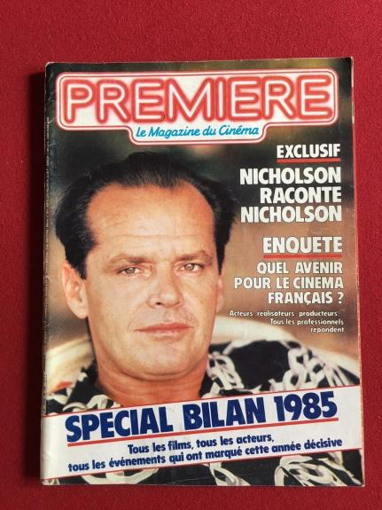 "1986, Jack Nicholson, ""PREMIERE"" Magazine (No Label) Scarce"