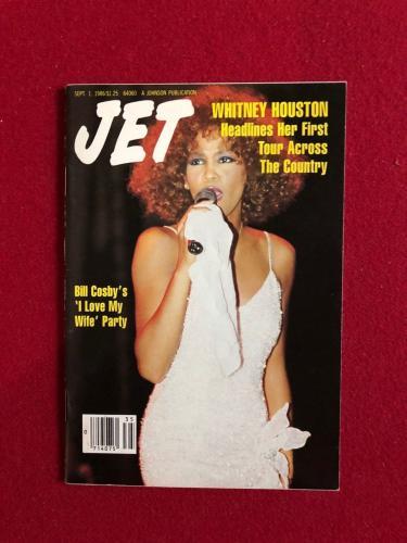 "1986, Whitney Houston, ""JET"" Magazine (No Label) Scarce"