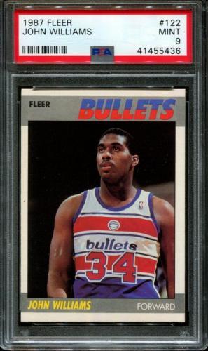 1987 Fleer #122 John Williams Rc Bullets Psa 9 K2615269-436