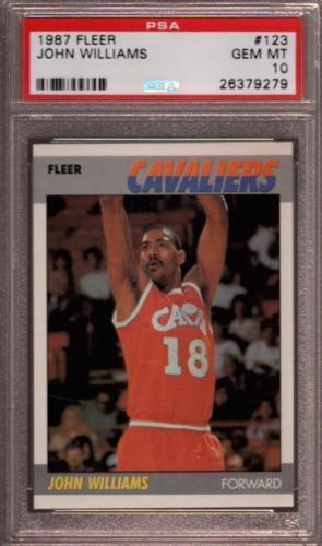 1987 Fleer #123 John Williams Rc Psa 10 K2347386-279