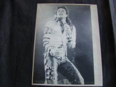 1988 European Tour Michael Jackson Ap Laser Photo