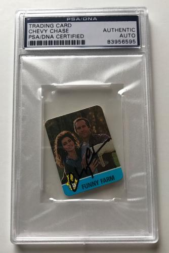 1988 Hostess Funny Farm Summer Flicks Chevy Chase Signed Auto Card PSA/DNA (B)