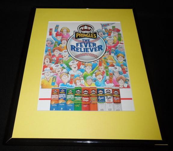 1988 Pringles Potato Chips 11x14 Framed ORIGINAL Vintage Advertisement
