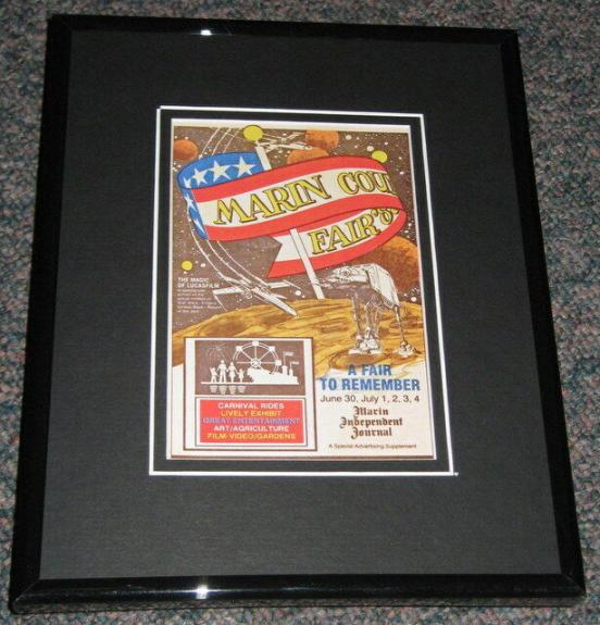1988 Star Wars Marin County Fair Framed Advertisement Photo Reproduction