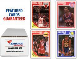 1989-90 Fleer Basketball Complete Set of 168 Cards